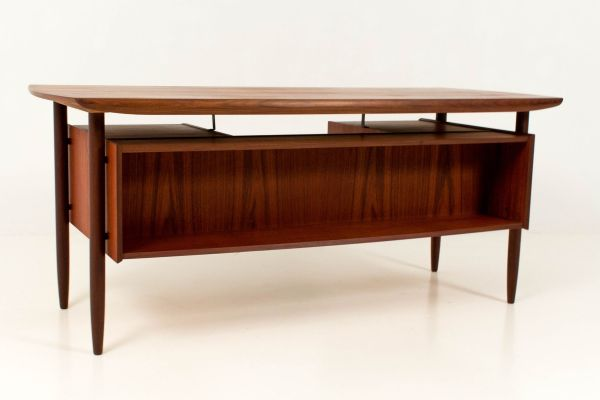 Mid-century Modern Floating Top Desk And Chair