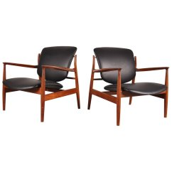 Finn Juhl Chair Uk Rubber Feet Replacement Fd 136 Easy Chairs By For France And Son 1950s