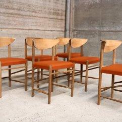 Orange Dining Chairs Australia Student Desk And Chair Combo Vintage Scandinavian Vinyl Set Of 6