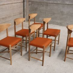 Orange Dining Chairs Australia Compact Travel Beach Vintage Scandinavian Vinyl Set Of 6