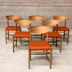 Orange Dining Chairs Australia Solid Wood Childrens Table And Vintage Scandinavian Vinyl Set Of 6