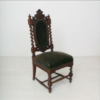 Antique Upholstered High Back Chair, 1880s for sale at Pamono