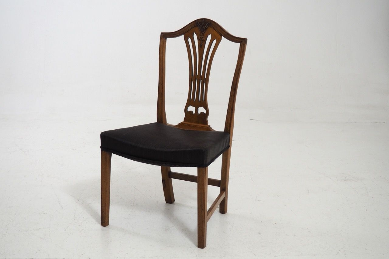 set of 8 dining chairs captains chair workout antique horsehair upholstered for