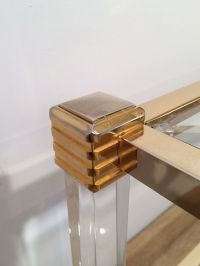 Vintage Gold Plated and Plexiglas Coffee Table for sale at ...