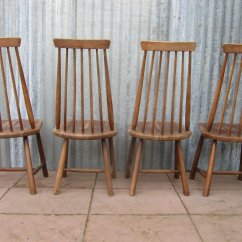 Swedish High Chair Leopard Heel Mid Century Back Spindle Chairs Set Of 4 For