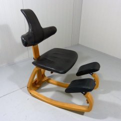 Ergonomic Chair Stokke Varier Thatsit Bungee Office Canada Balance With Leather Backrest By For
