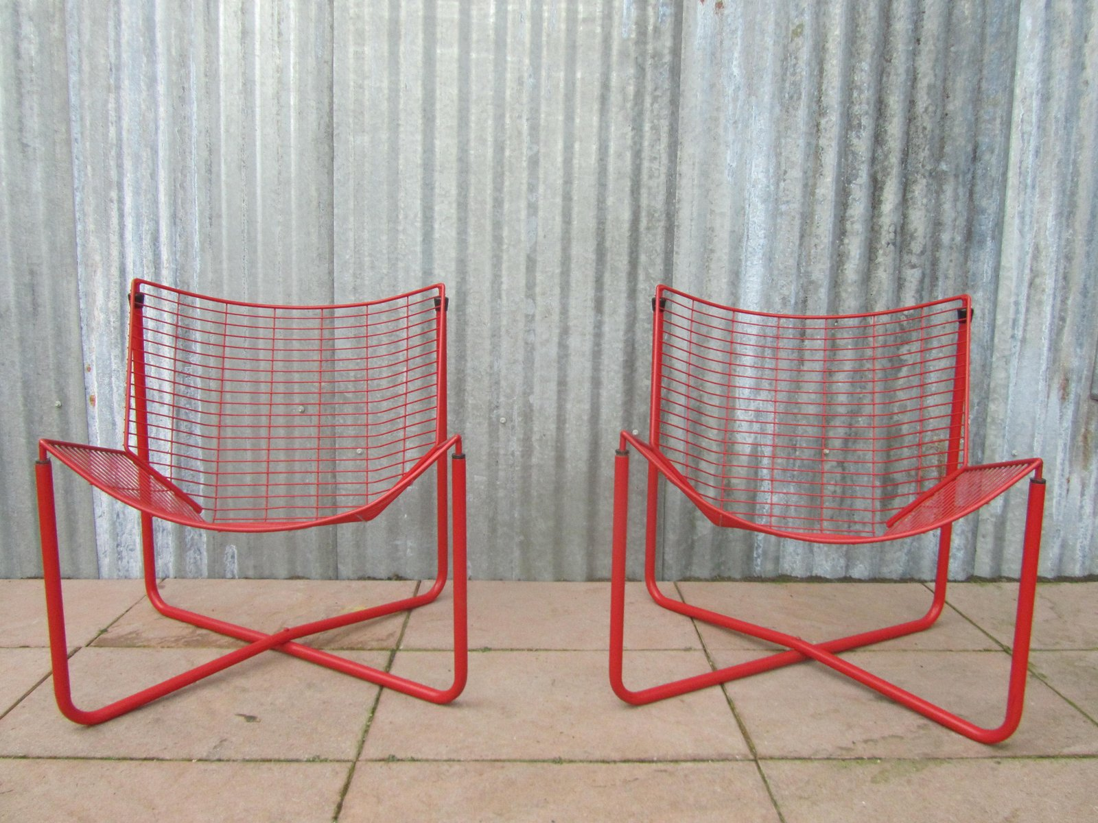 ikea metal chairs swivel cuddle chair john lewis red wire jarpen by niels gammelgaard for