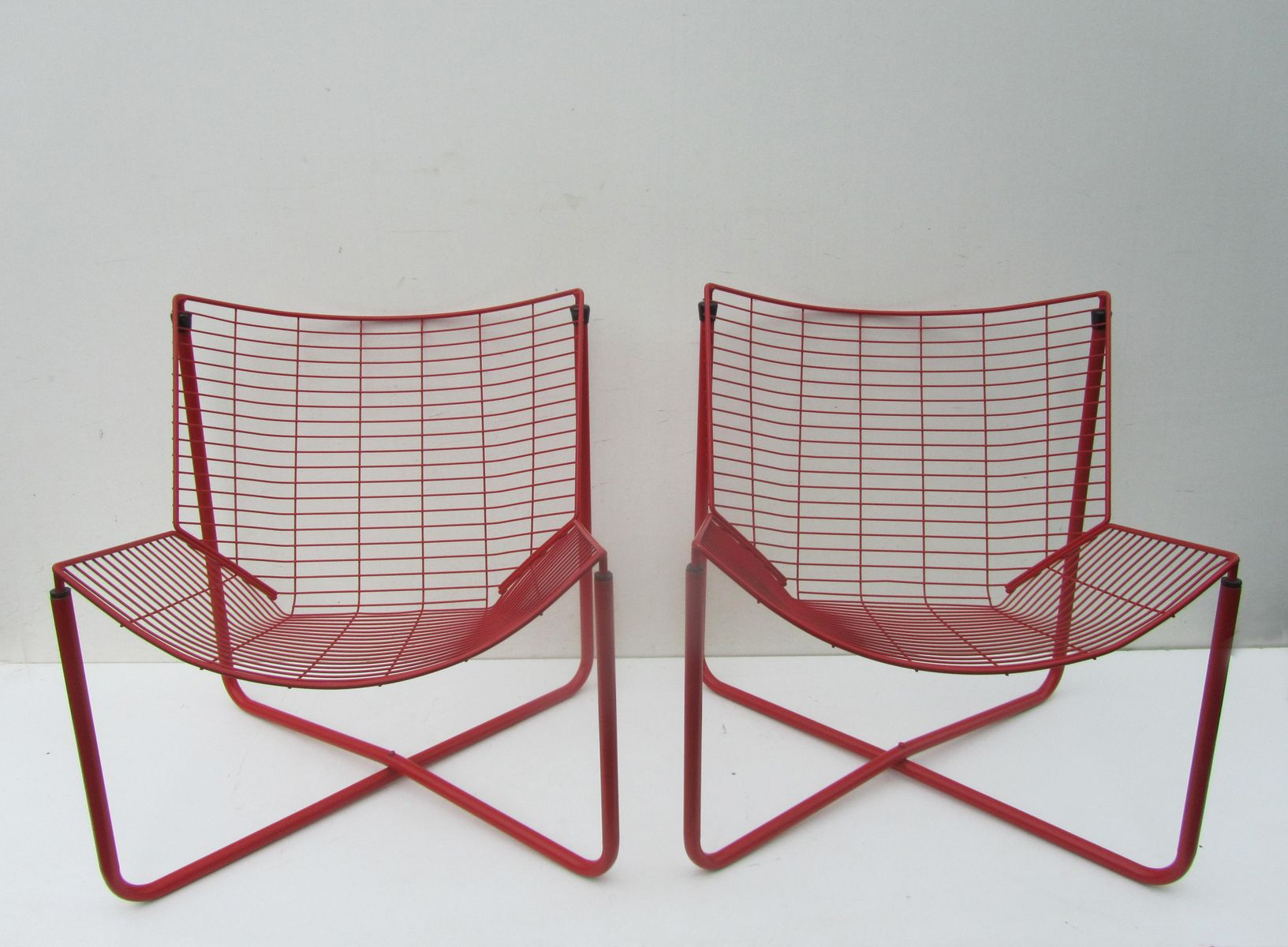 ikea metal chairs high chair walmart red wire jarpen by niels gammelgaard for