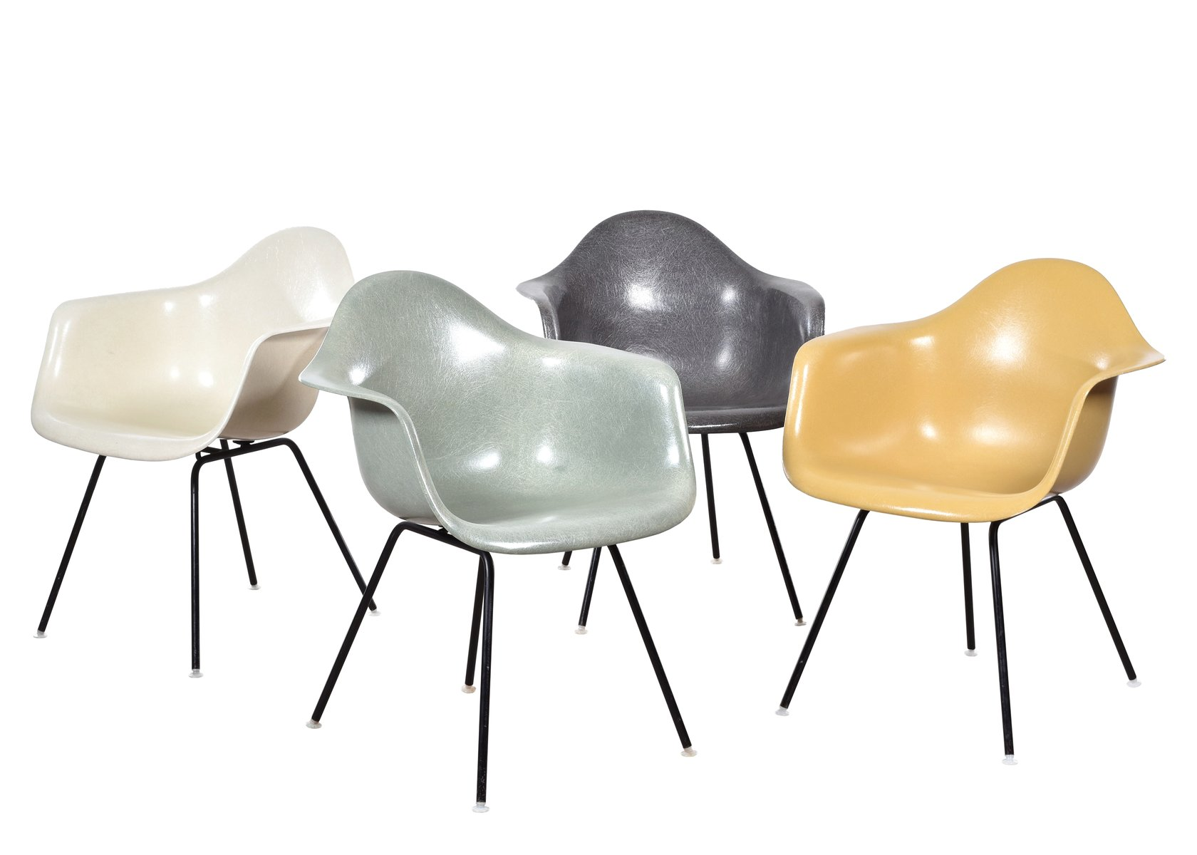 herman miller chair sale dining set with fabric chairs dax by charles and ray eames for miller, of 4 at pamono