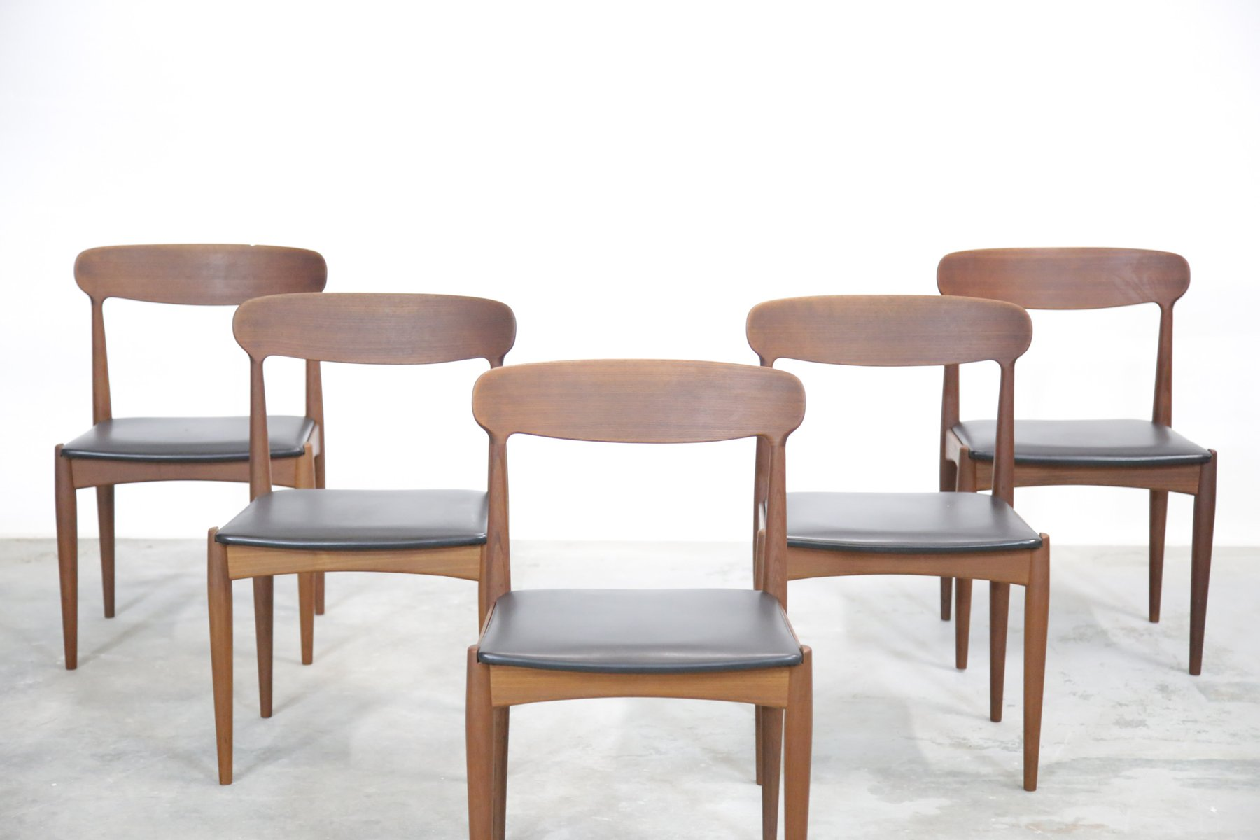 Five Chairs Danish Dining Chairs By Johannes Andersen For Uldum 1960s