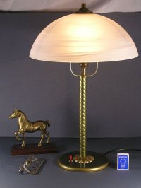 Vintage Brass Table Lamp, 1940s for sale at Pamono