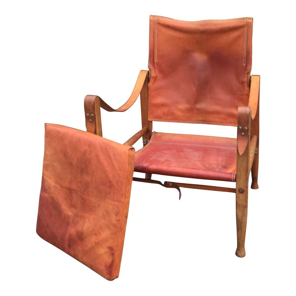 leather safari chair outdoor wicker rocking canada by kaare klint for rud rasmussen