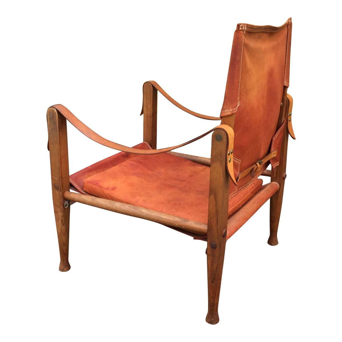 leather safari chair folding jakarta by kaare klint for rud rasmussen