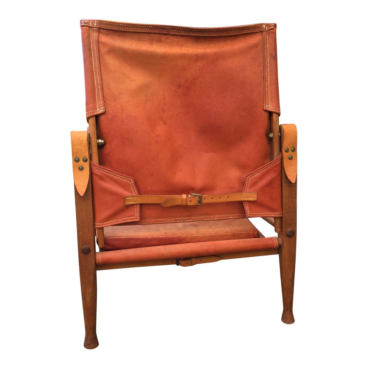 leather safari chair molded plastic chairs by kaare klint for rud rasmussen