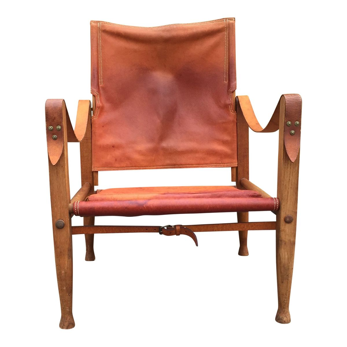 leather safari chair plastic resin adirondack chairs by kaare klint for rud rasmussen