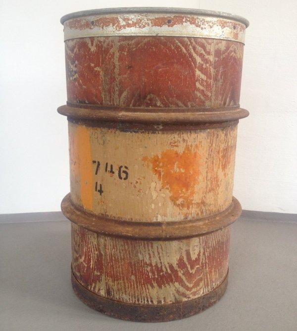 Vintage Wooden Barrel Pamono