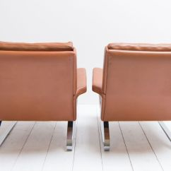 Swingasan Chair For Sale Modern Glider Swing Lounge Chairs With Cognac Leather Upholstery From