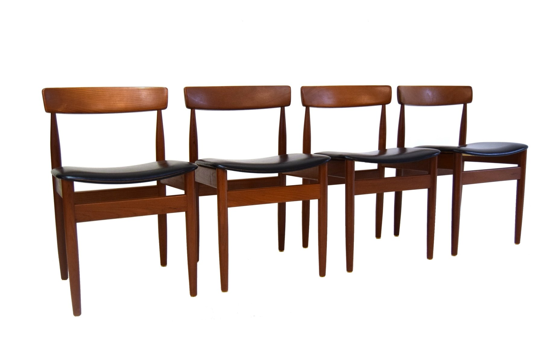 set of chairs espresso dining mid century danish 1960s 4 for sale