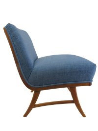 Mid-Century Blue Lounge Chair for sale at Pamono