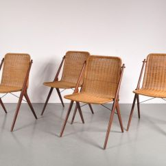 Teak Dining Room Chairs For Sale Es Robbins Chair Mats Vintage And Wicker Set Of 4