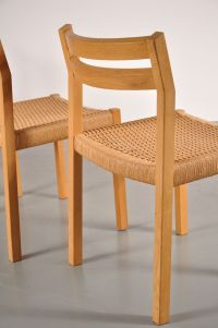 Scandinavian Oak Dining Chairs from Moller, Set of 4 for ...