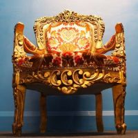 Ornate Throne Chairs, 1960s, Set of 2 for sale at Pamono