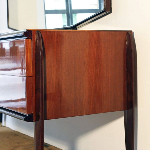 Vintage Chest Of Drawers With Mirror Pamono