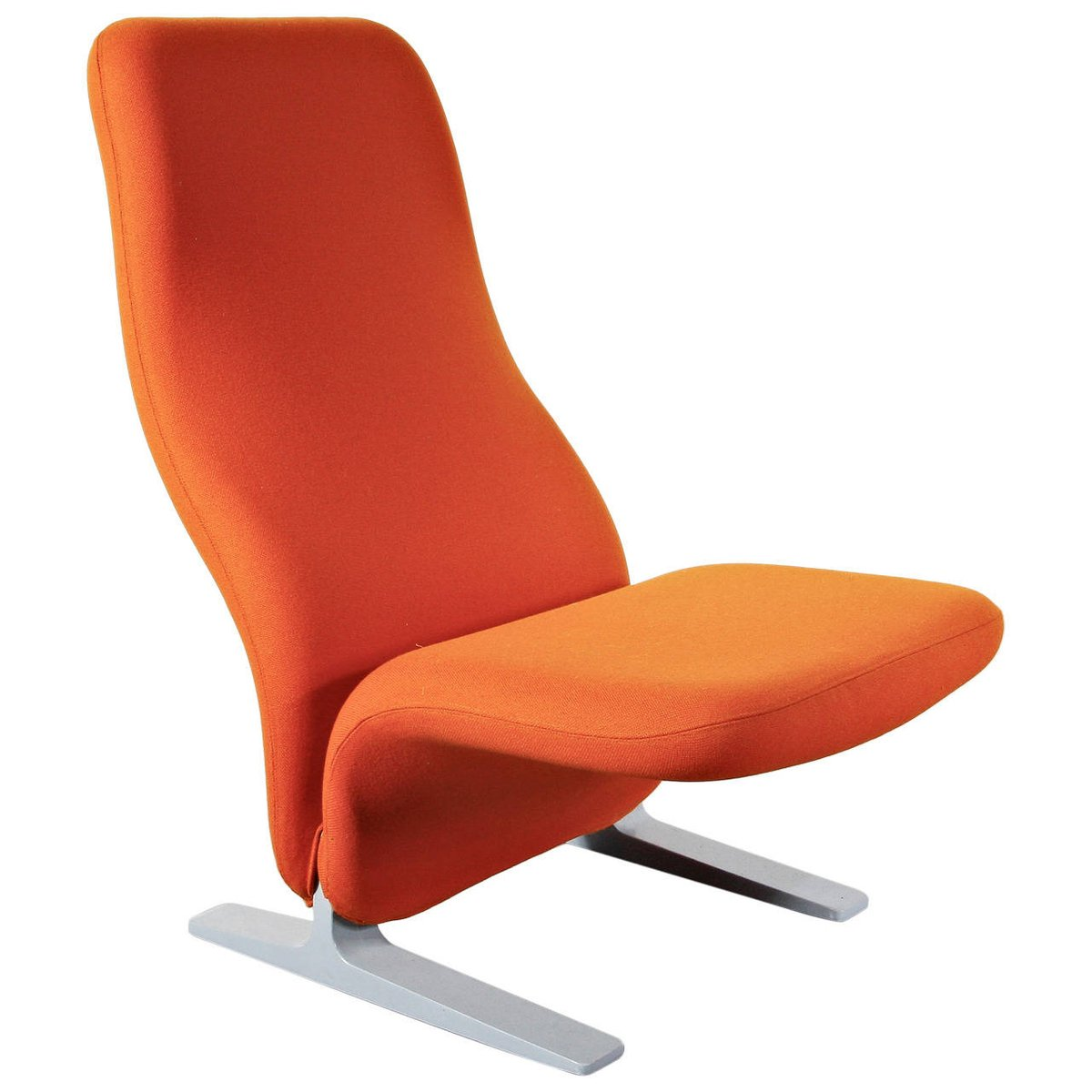 Orange Lounge Chair Orange Concorde Lounge Chair By Pierre Paulin For Artifort