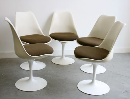 Vintage Tulip Chairs By Eero Saarinen For Knoll Set Of 5