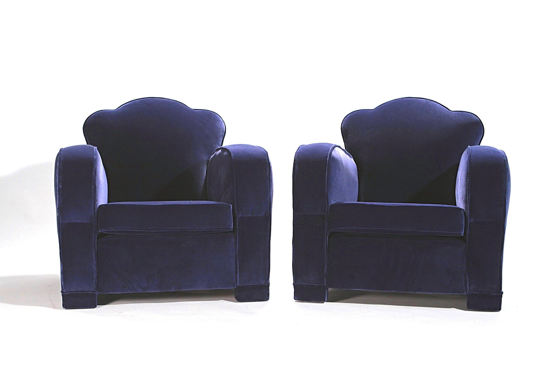 Velvet Club Chair Blue Velvet Club Chairs 1940s Set Of 2 For Sale At Pamono