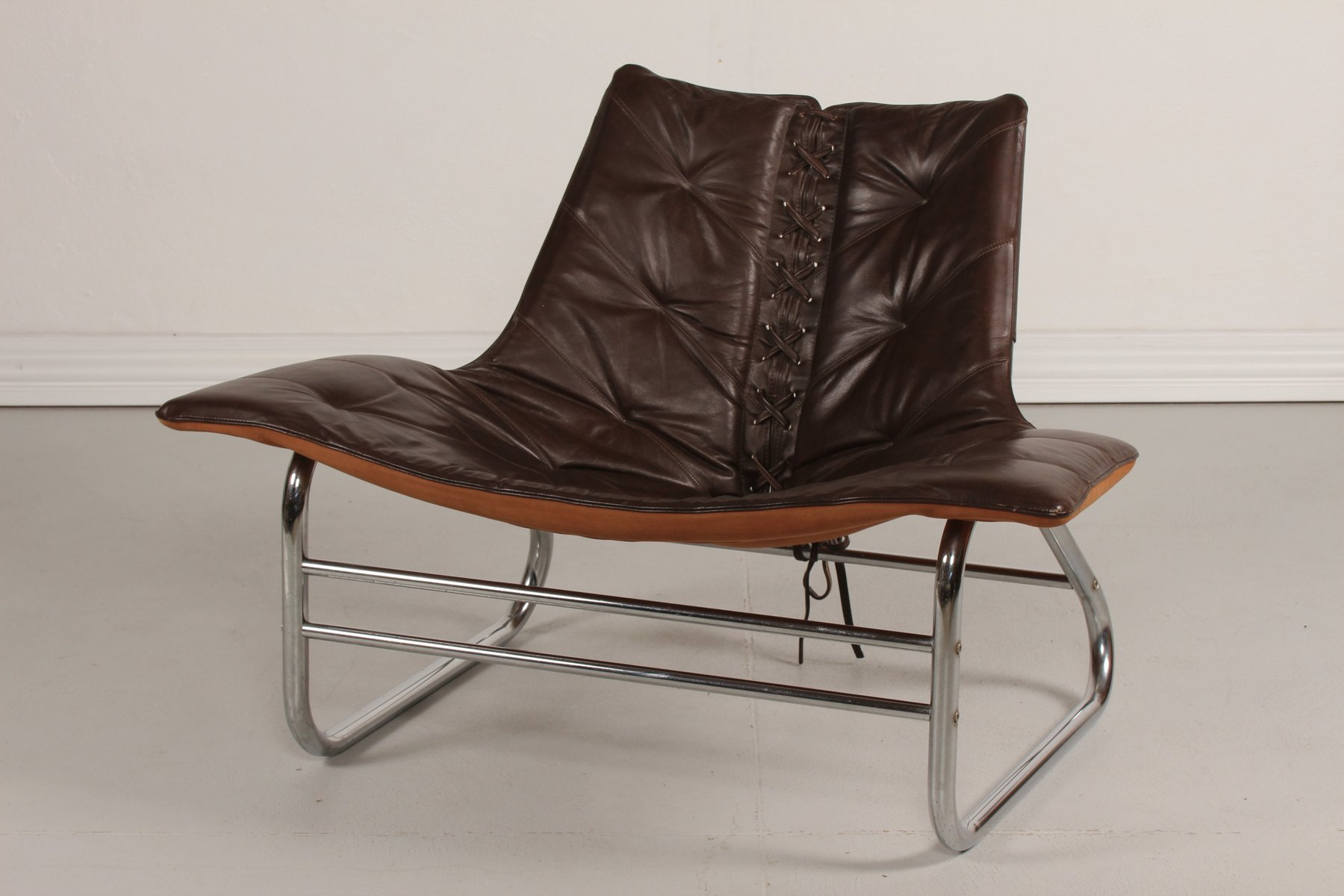 antique metal chairs for sale hair salon chair mats vintage and brown leather danish 1970s