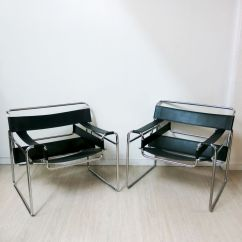 Marcel Breuer Chair Original Dark Wood Table With White Chairs Wassily By 1980s For Sale At Pamono