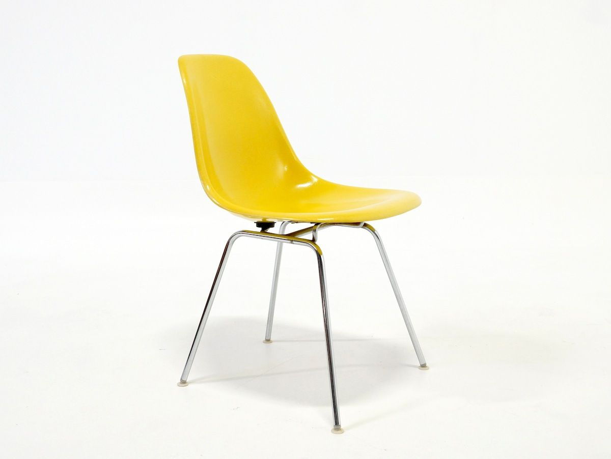 Yellow Side Chair Yellow Side Chair By Charles And Ray Eames For Herman