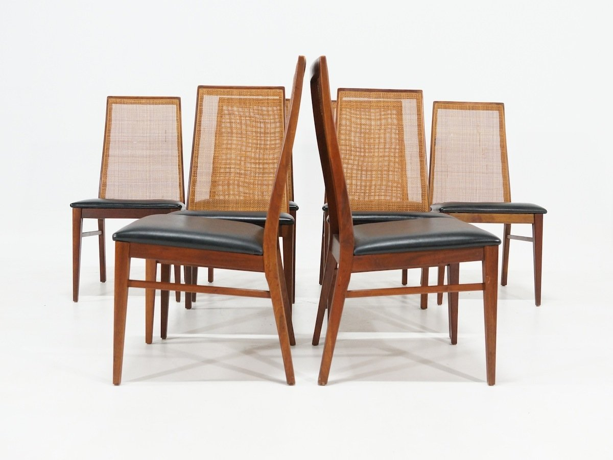 milo baughman dining chairs gliding chair with ottoman mid century by for dillingham