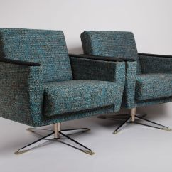 Swivel Chair Mid Century Covers Hire Auckland Lounge Chairs 1950s Set Of 2 For Sale