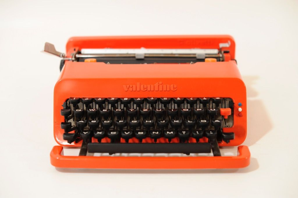 Red Valentine Portable Typewriter By Ettsore Sottsass And