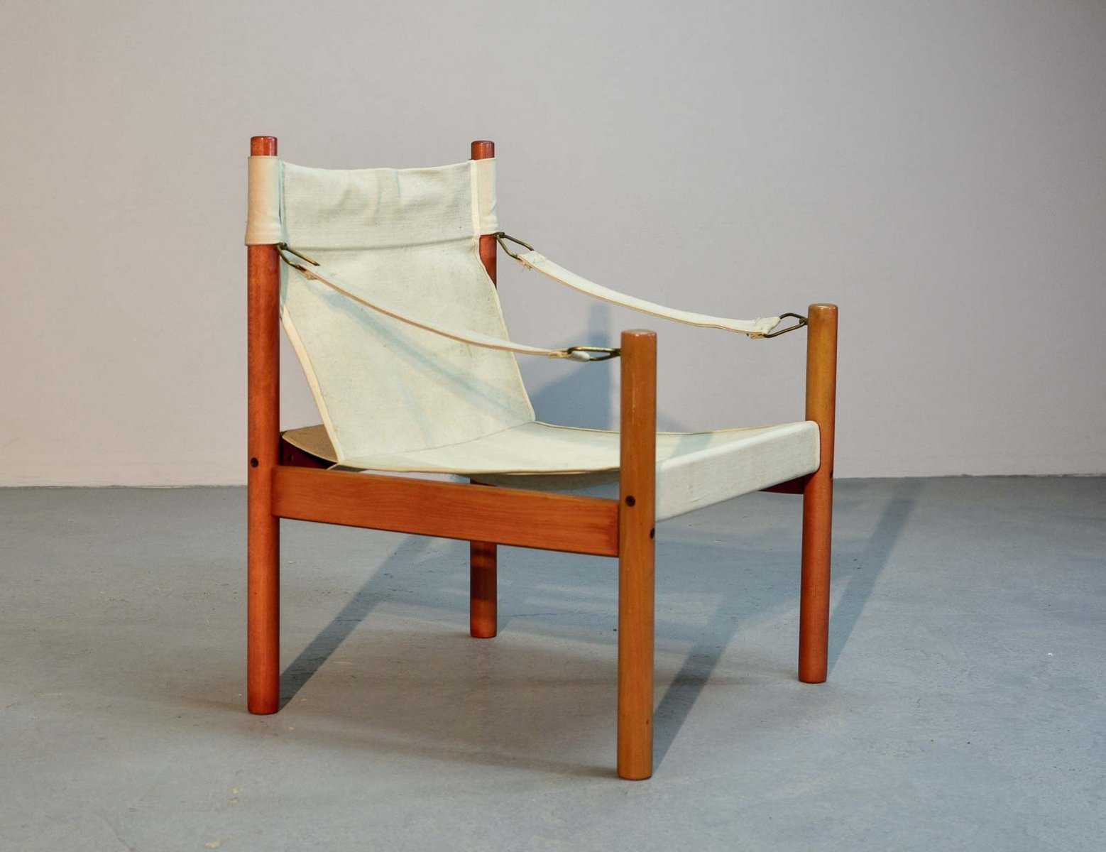 Canvas Sling Chair Scandinavian Canvas Safari Chair 1960s For Sale At Pamono