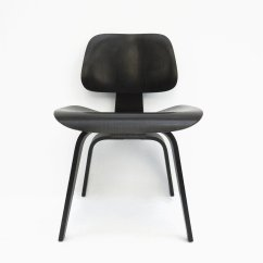 Eames Dining Chair Folding Chairs With Cushion Vintage Dcw Black By Charles And Ray For