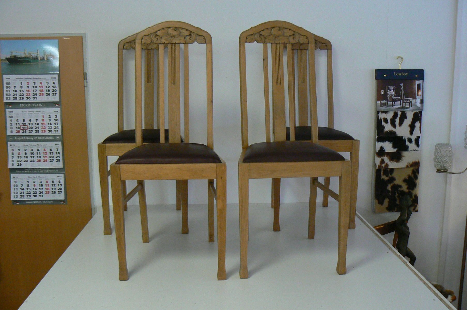 dining chair sets of 4 design plans german antique oak chairs set for sale at pamono
