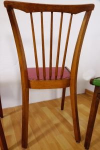 Vintage Coloured Kitchen Chairs, Set of 4 for sale at Pamono