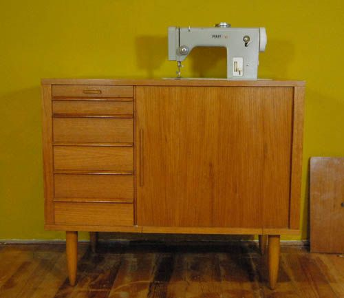 Vintage Sewing Machine Cabinet 1950s for sale at Pamono