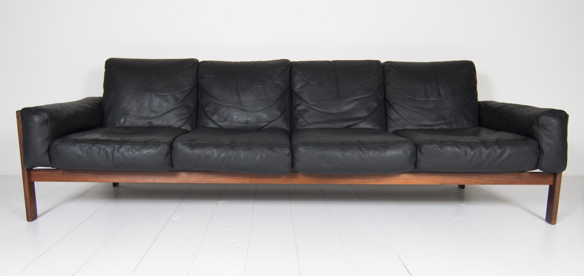 4 seater leather sofa prices cane sofas bangalore four black by sven ivar dysthe for