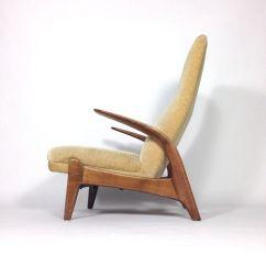 Deer Antler Rocking Chair Office No Wheels Swivel Teak And Velvet From Gimson Slater For Sale