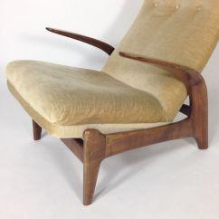 Deer Antler Rocking Chair Barber Chairs For Sale Teak And Velvet From Gimson Slater