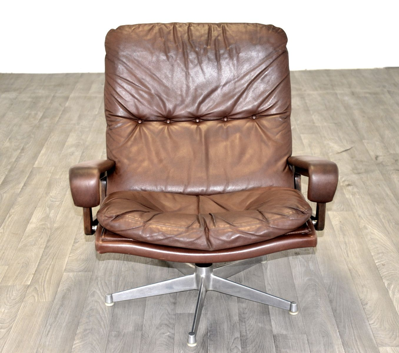 Chair King Sale Swiss King Swivel Chair With Ottoman By Andre Vandenbeuck
