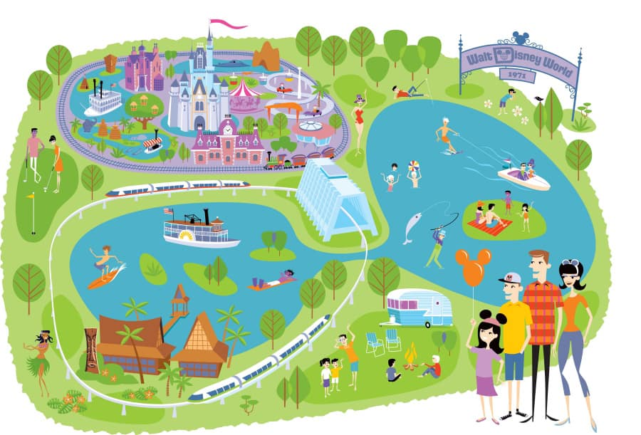 Walt Disney World Map Printable   chartlist.stunningplaces.co