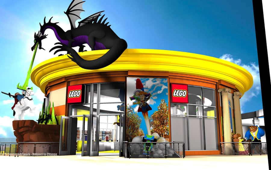 lego store at downtown