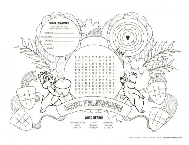 Download Disney Parks Inspired Kids' Thanksgiving