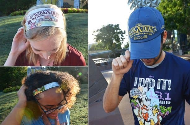 2018 Disney Wine & Dine Half Marathon Weekend Merchandise - Event weekend hat and assorted headbands