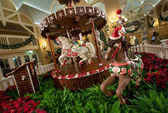 2018 Holiday Gingerbread Display at Disney's Yacht Club Resort